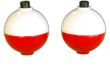 Plastilite Red/White Round Ball Floats