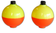 Plastilite Yellow/Orange Round Ball Floats